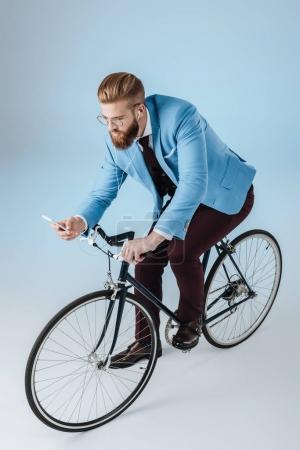 stylish man using smartphone