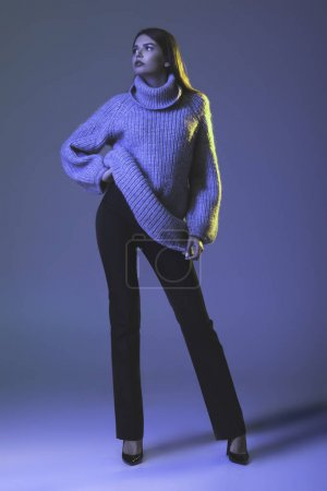 model in warm sweater