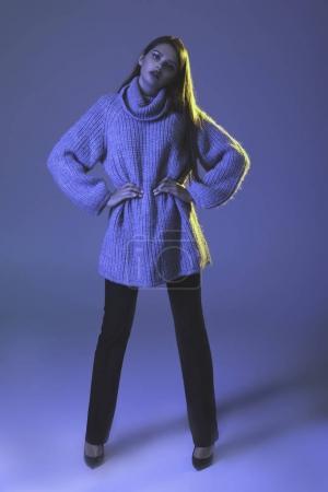 model in warm sweater