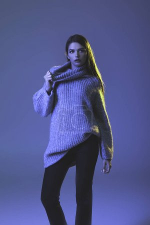 girl in warm sweater