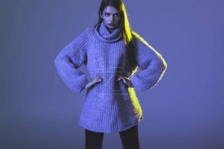girl in warm sweater