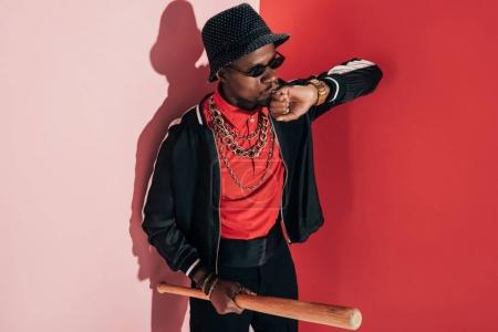 african american man with bat