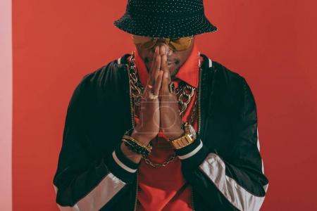 african american man wearing jewellery