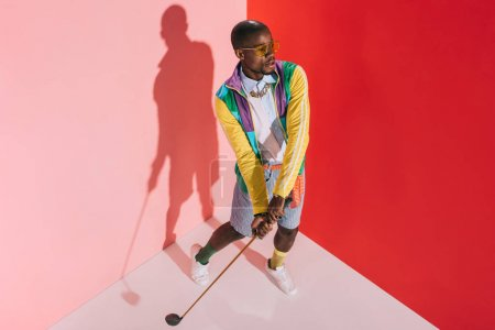 Stylish man with golf club