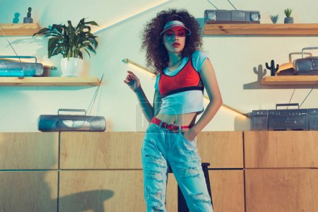 young fashionable woman in cap