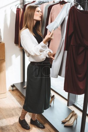 beautiful girl in boutique