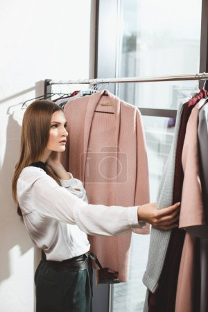 fashionable girl in boutique