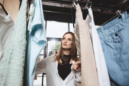 girl choosing clothes