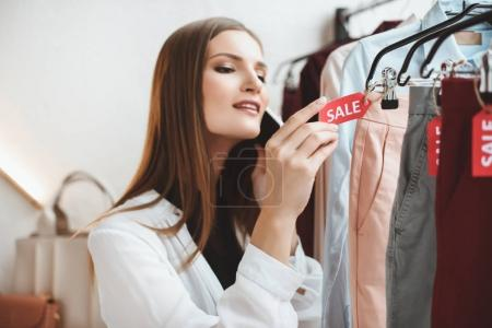 clothes with discount in boutique