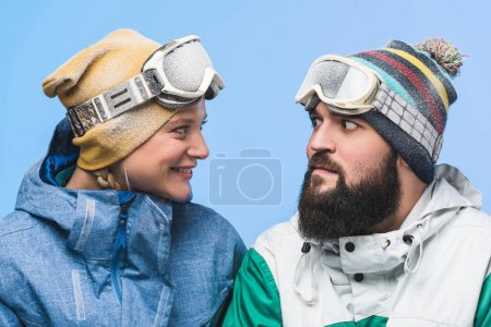 couple in snowboard clothing