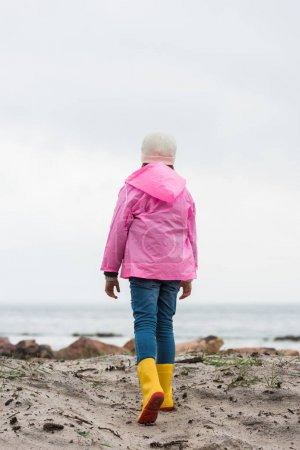 Child in raincoat