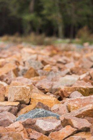 roches de granit rouge