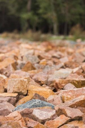 Red granite rocks
