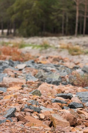 red and grey granite rocks