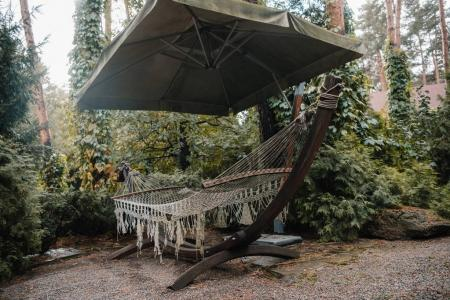 hammock in courtyard