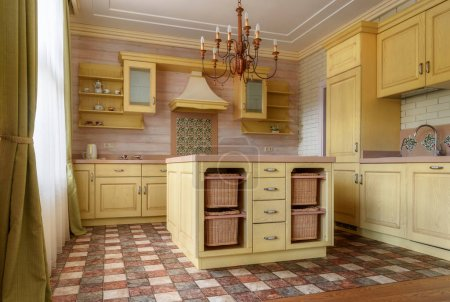 Photo for Kitchen interior in modern country house - Royalty Free Image