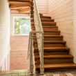 Empty staircase in modern cottage house...