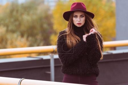 woman in autumn sweater