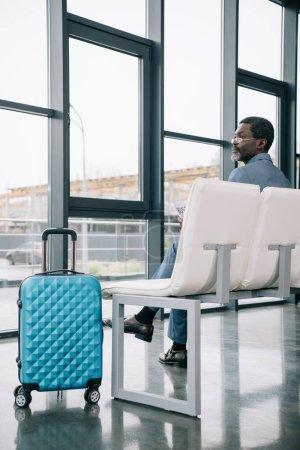 businessman waiting at airport