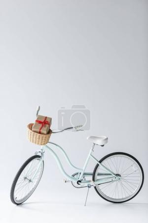 Retro bicycle with christmas gift
