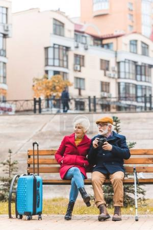 pareja de turistas en Banco