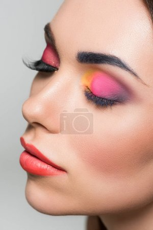 woman with beautiful makeup