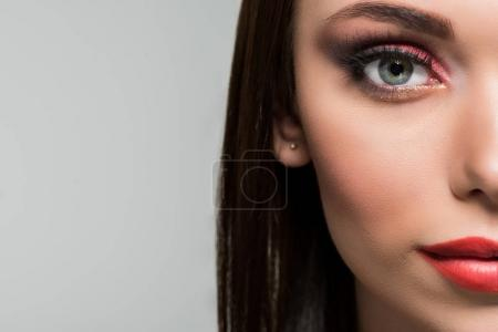woman with fashionable makeup