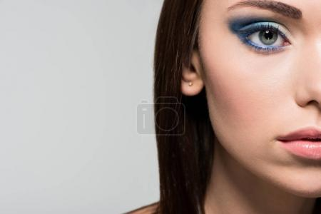 woman with fashionable makeup