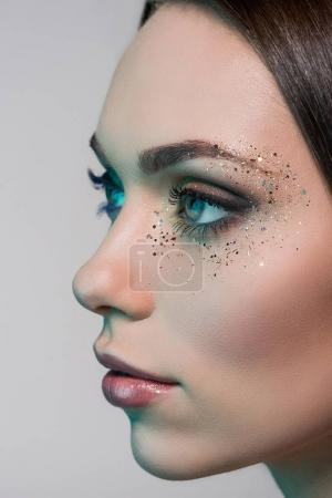 woman with fashion makeup