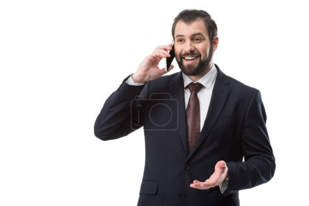 Empresario hablando en Smartphone