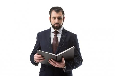businessman with documents in folder
