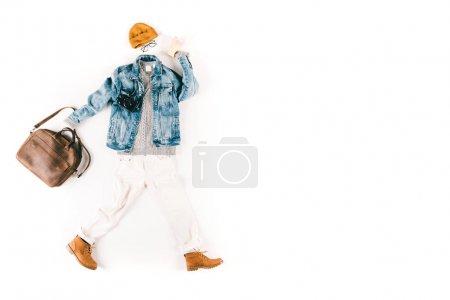 fashionable clothing and camera