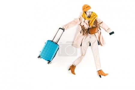 stylish clothes and suitcase