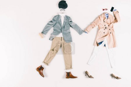 stylish clothes and smartphone