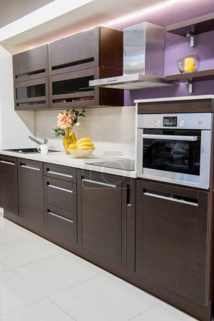 Photo for Cozy modern kitchen interior with furniture - Royalty Free Image