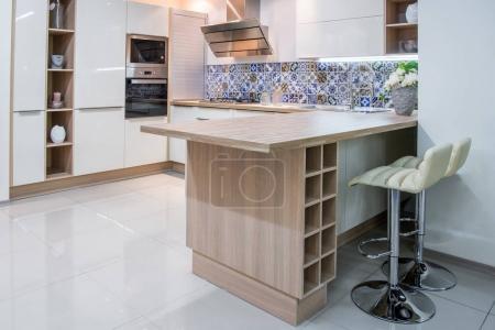 cozy modern kitchen interior with furniture