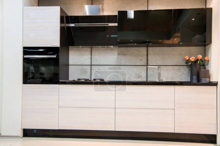 Photo for Front view of modern kitchen interior - Royalty Free Image