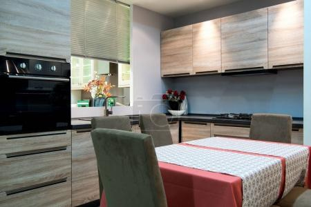 modern kitchen and dinning room interior
