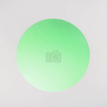 round green hole with copy space on grey