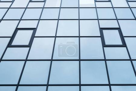 low angle view of building windows texture