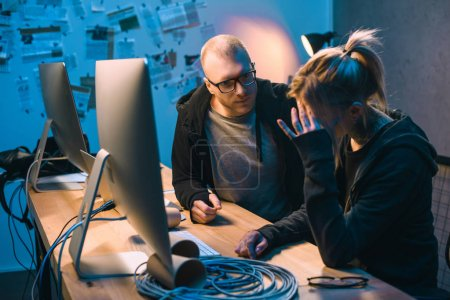 depressed couple of hackers have problem with malware development