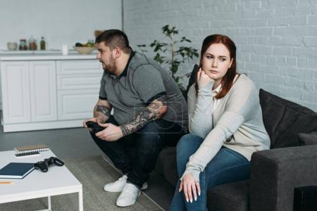 overweight upset girlfriend