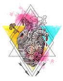 Illustration mechanical heart