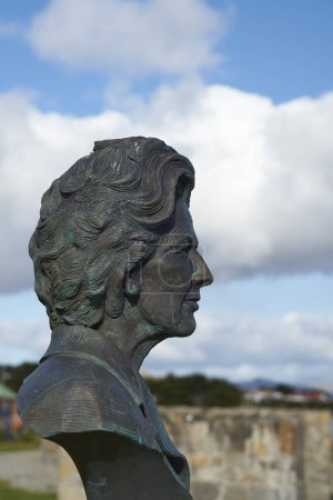 Statue of Margaret Thatcher in the Falkland Islands