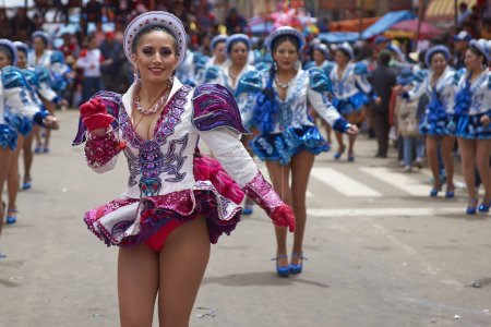 Caporales dancers at the Oruro Carnival
