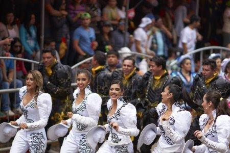Caporales dancers at the Oruro Carnival