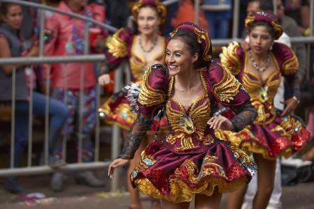 Caporales dance group at the Oruro Carnival