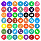 Social Media Icon Round Style