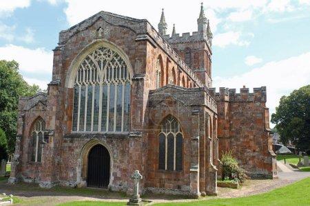 The twelfth century Crediton parish church in Devon UK