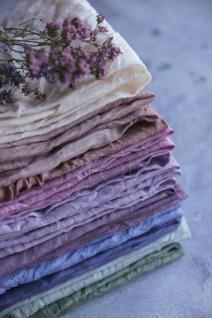 Natural hand-dyed fabrics
